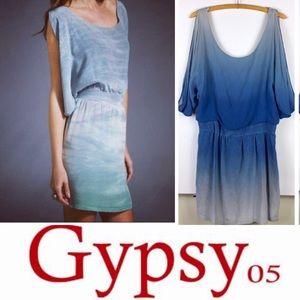 Gypsy 05 silk blue ombré dress M